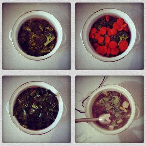 этапы приготовления супа