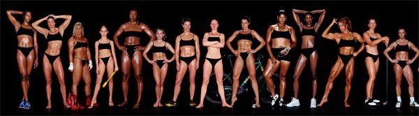 Фигуры женщин атлетов